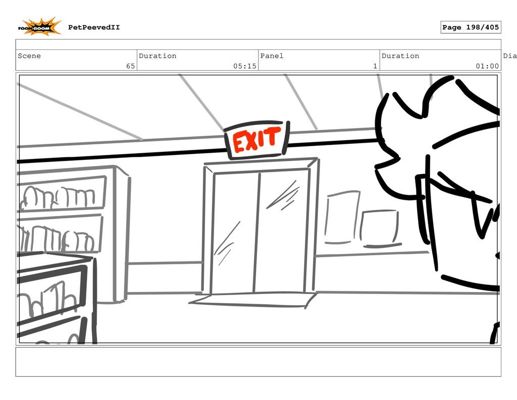 Scene 65 Duration 05:15 Panel 1 Duration 01:00 ...