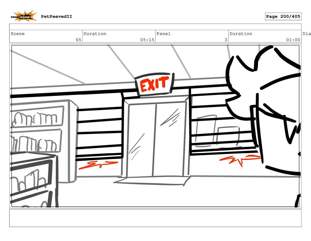 Scene 65 Duration 05:15 Panel 3 Duration 01:00 ...