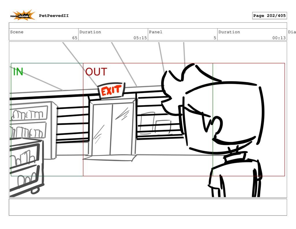 Scene 65 Duration 05:15 Panel 5 Duration 00:13 ...