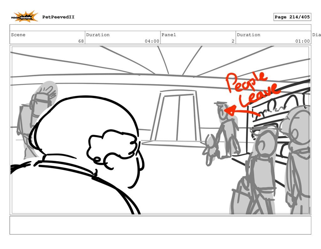 Scene 68 Duration 04:00 Panel 2 Duration 01:00 ...