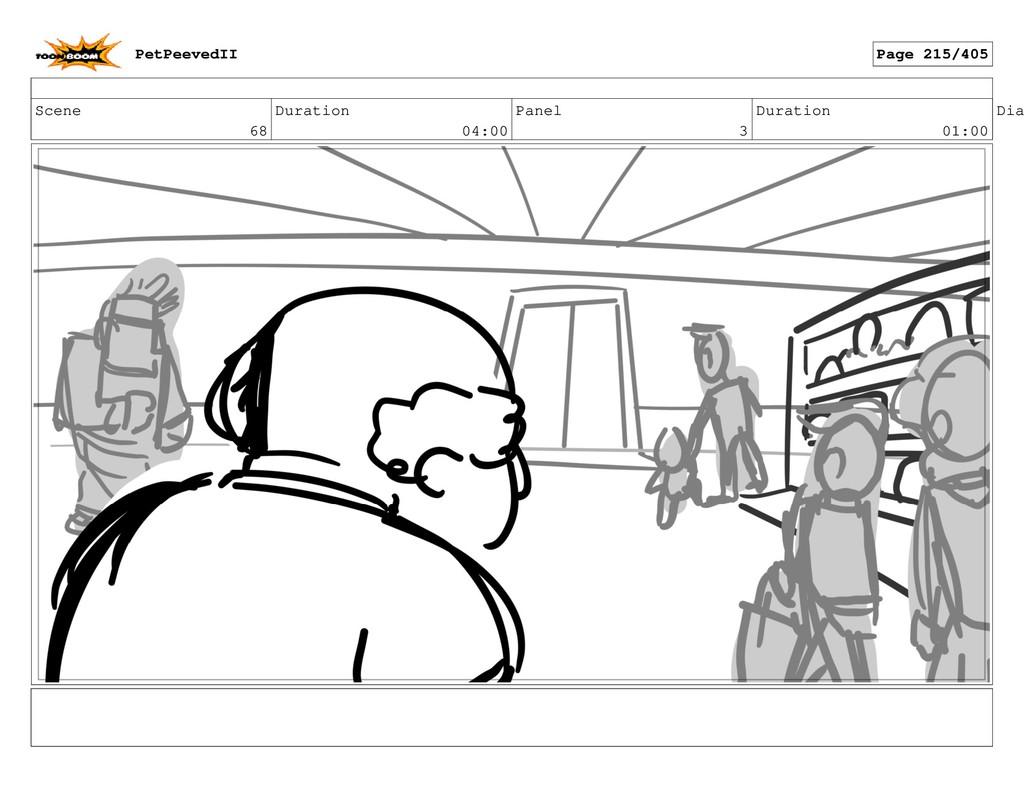 Scene 68 Duration 04:00 Panel 3 Duration 01:00 ...