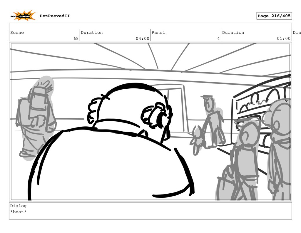 Scene 68 Duration 04:00 Panel 4 Duration 01:00 ...