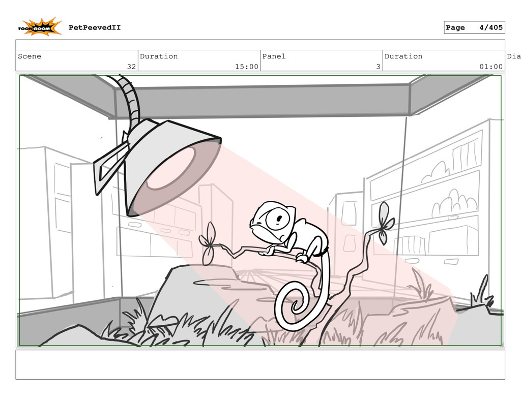 Scene 32 Duration 15:00 Panel 3 Duration 01:00 ...