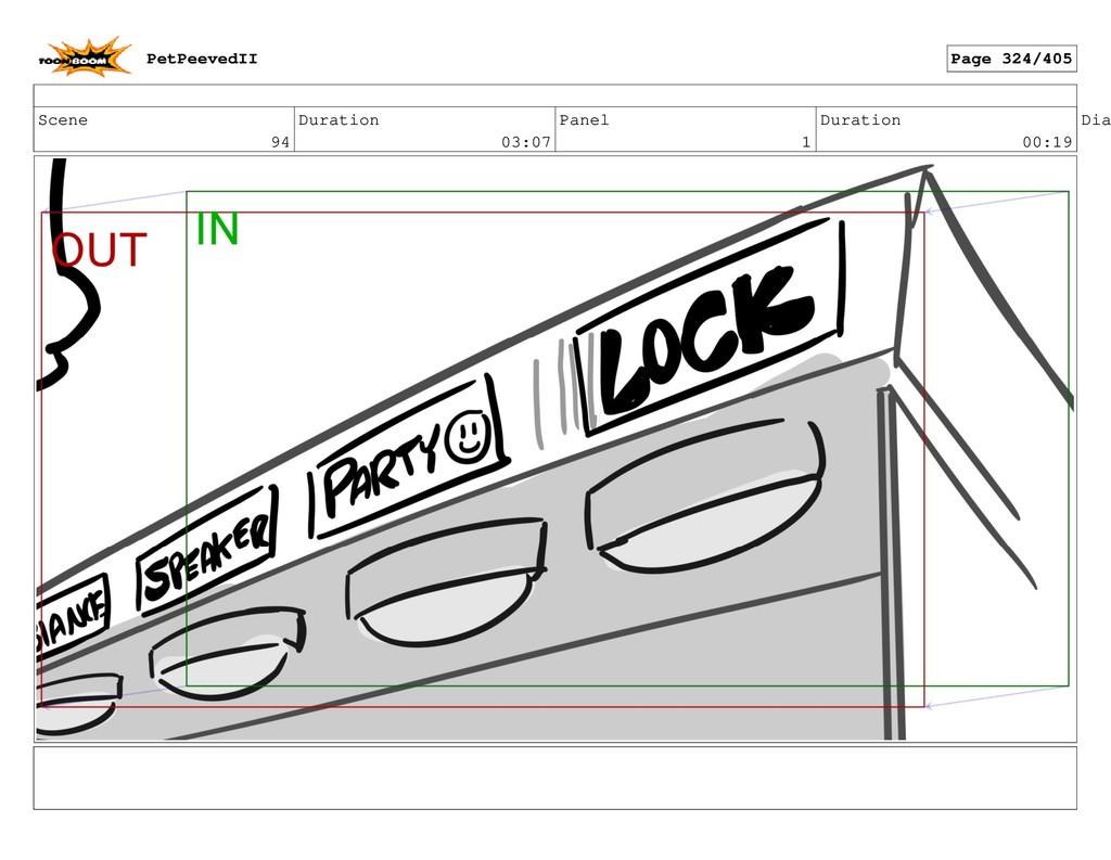 Scene 94 Duration 03:07 Panel 1 Duration 00:19 ...