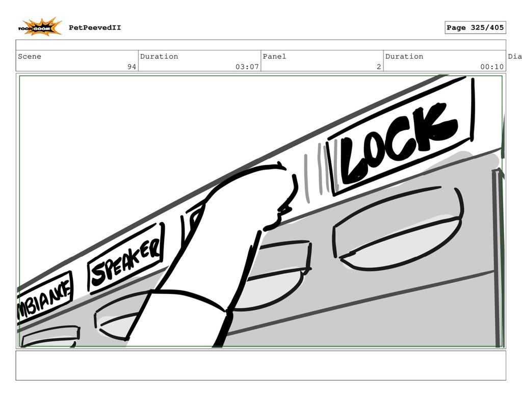 Scene 94 Duration 03:07 Panel 2 Duration 00:10 ...
