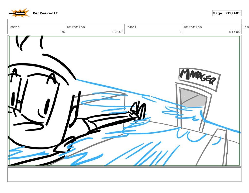 Scene 96 Duration 02:00 Panel 1 Duration 01:00 ...