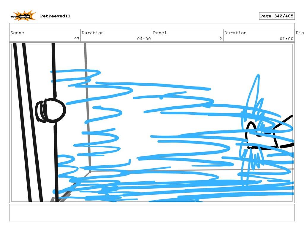 Scene 97 Duration 04:00 Panel 2 Duration 01:00 ...
