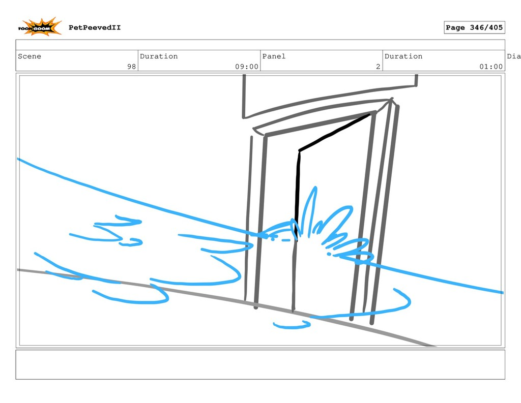 Scene 98 Duration 09:00 Panel 2 Duration 01:00 ...