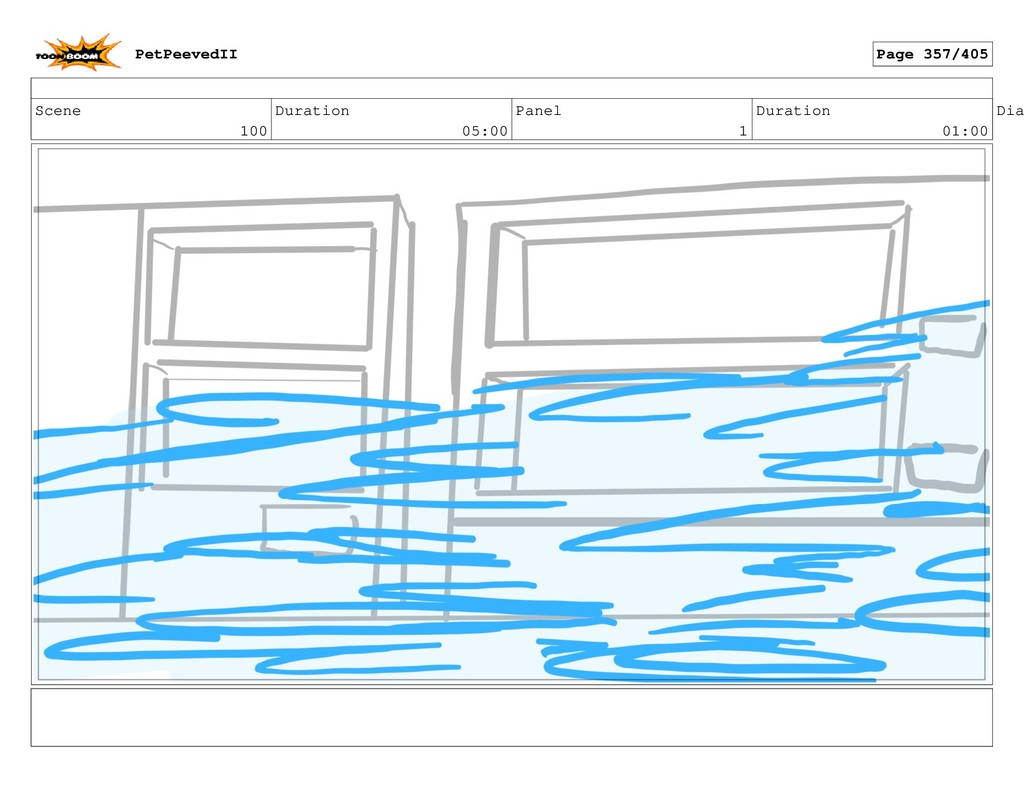 Scene 100 Duration 05:00 Panel 1 Duration 01:00...