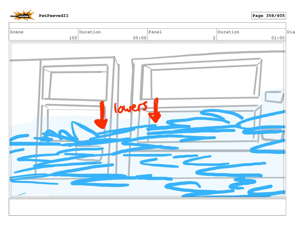 Scene 100 Duration 05:00 Panel 2 Duration 01:00...