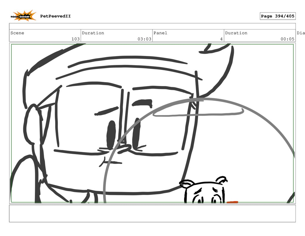 Scene 103 Duration 03:03 Panel 4 Duration 00:05...