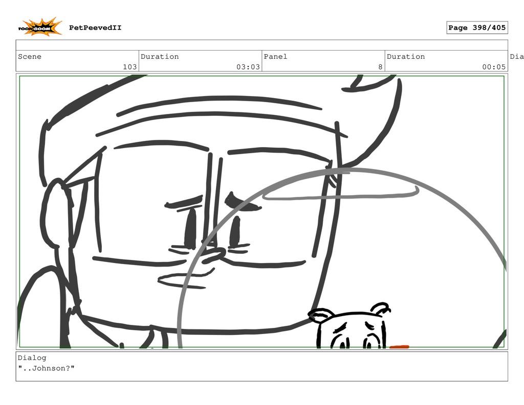Scene 103 Duration 03:03 Panel 8 Duration 00:05...