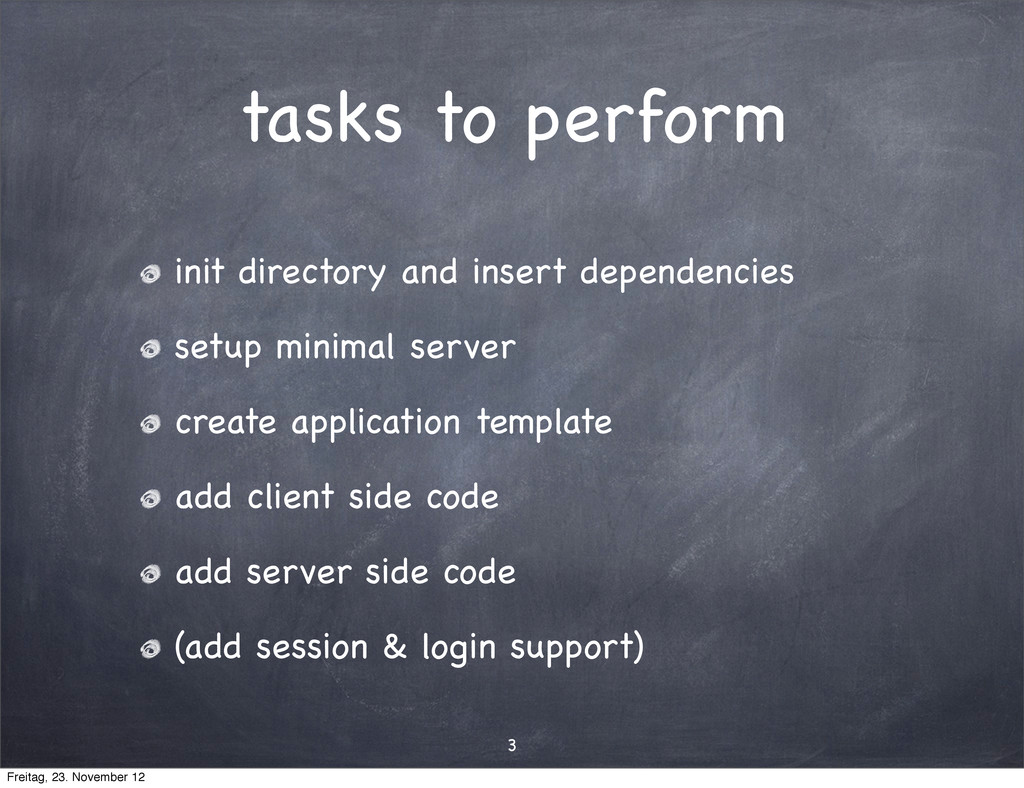 tasks to perform 3 init directory and insert de...