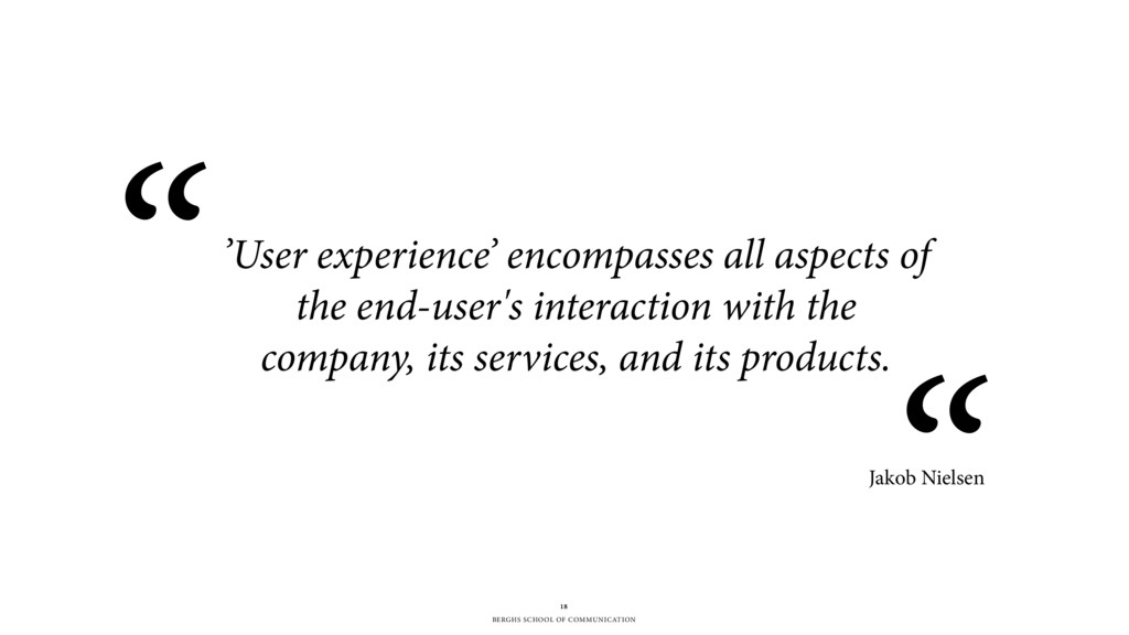 BERGHS SCHOOL OF COMMUNICATION 'User experience...