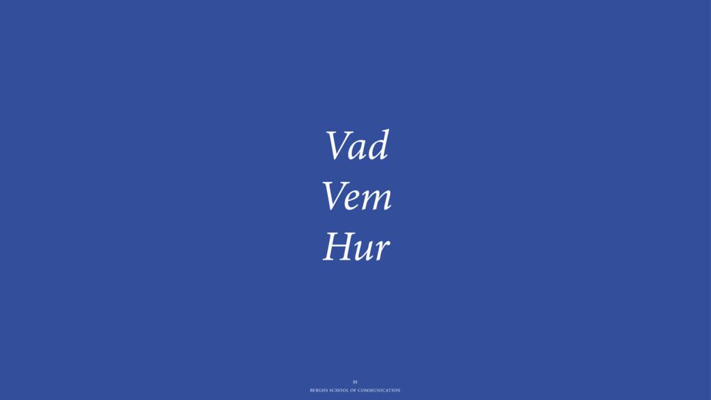 BERGHS SCHOOL OF COMMUNICATION Vad Vem Hur 35