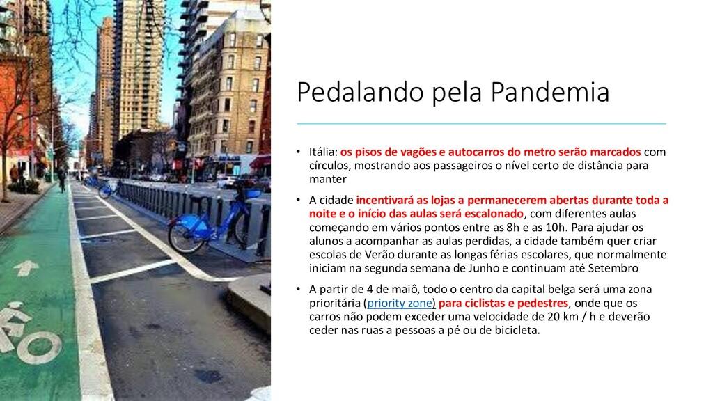Pedalando pela Pandemia • Itália: os pisos de v...