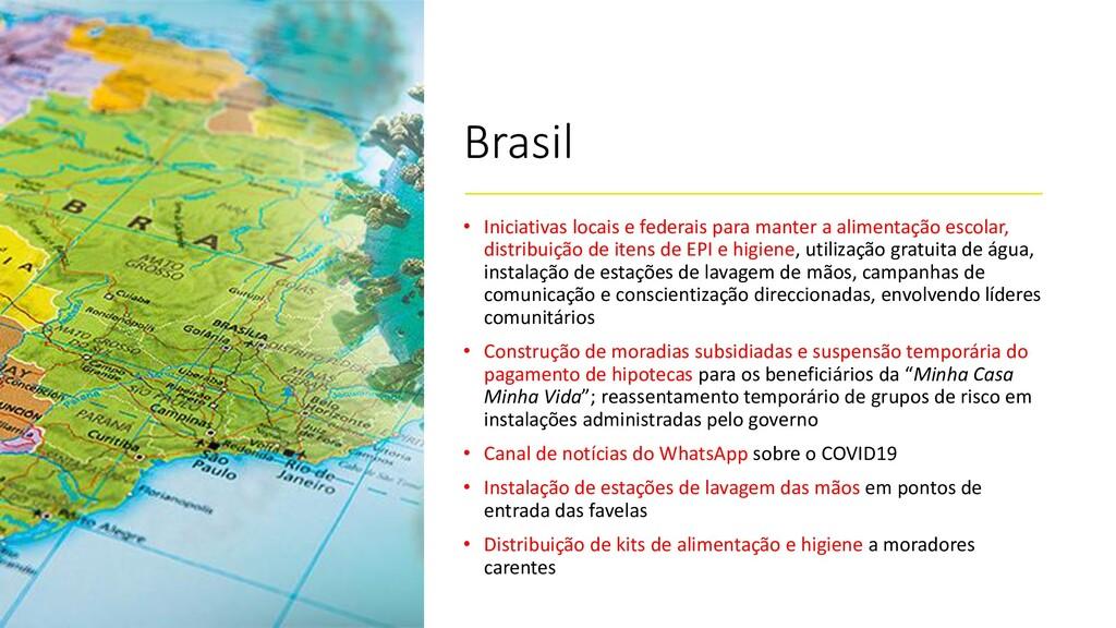 Brasil • Iniciativas locais e federais para man...