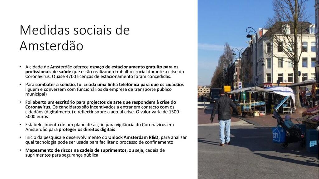 Medidas sociais de Amsterdão • A cidade de Amst...