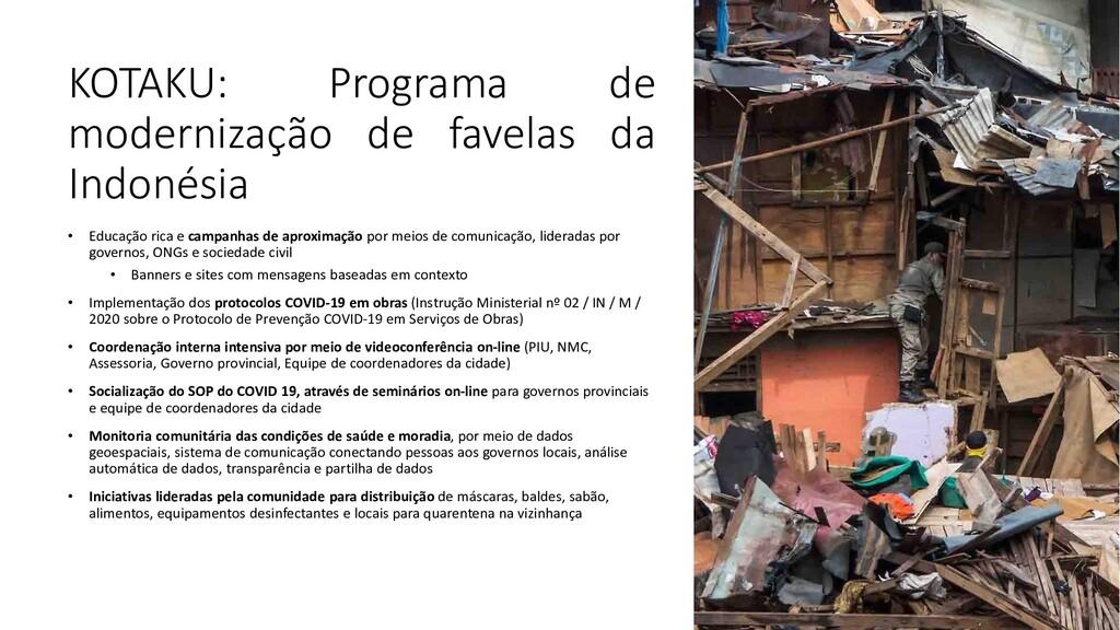 KOTAKU: Programa de modernização de favelas da ...