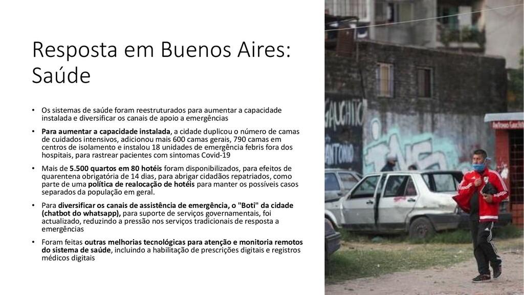Resposta em Buenos Aires: Saúde • Os sistemas d...