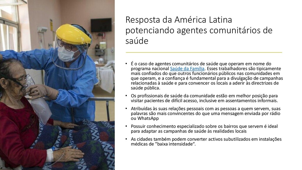 Resposta da América Latina potenciando agentes ...