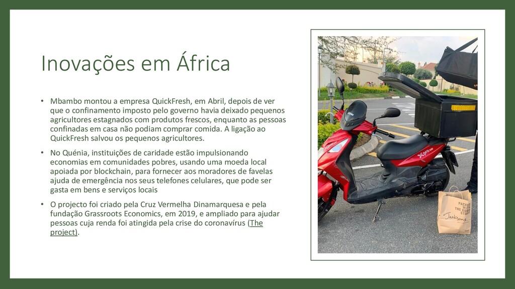 Inovações em África • Mbambo montou a empresa Q...