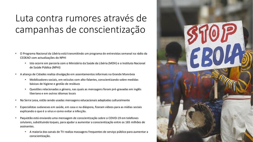 Luta contra rumores através de campanhas de con...