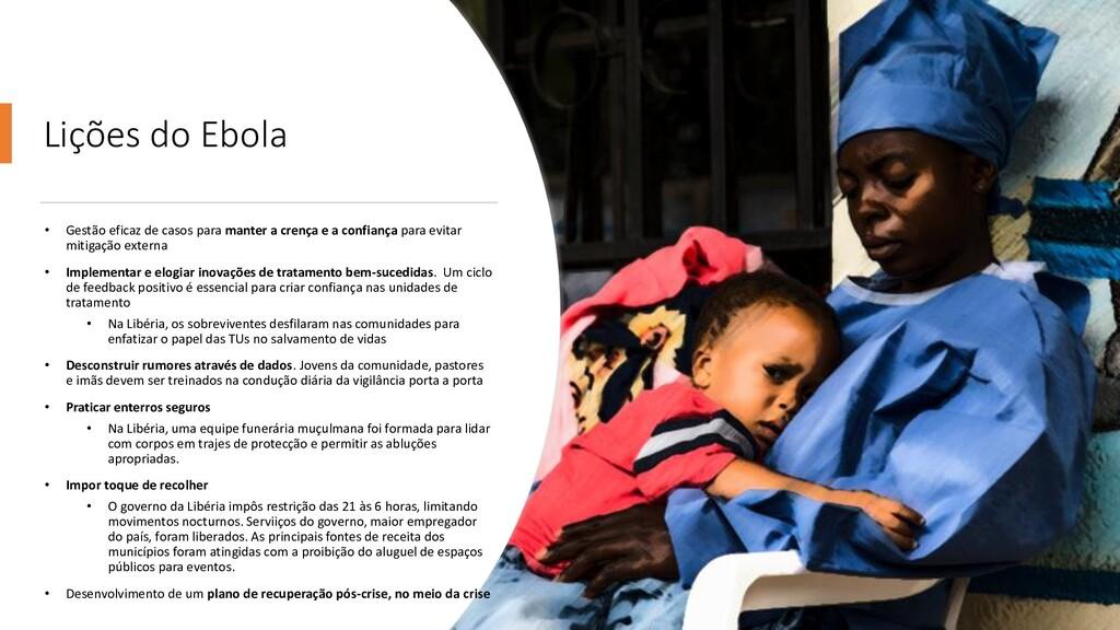 Lições do Ebola • Gestão eficaz de casos para m...