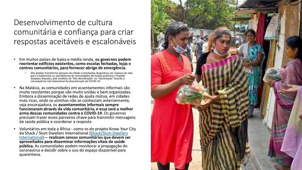 Desenvolvimento de cultura comunitária e confia...