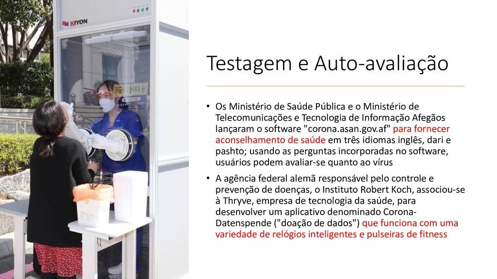 Testagem e Auto-avaliação • Os Ministério de Sa...