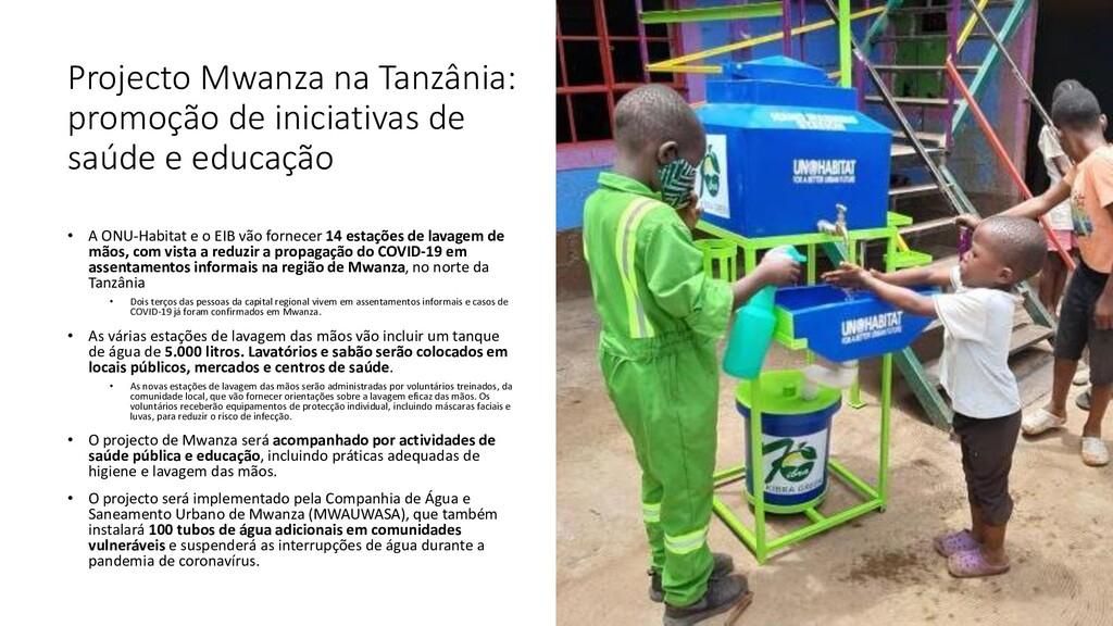 Projecto Mwanza na Tanzânia: promoção de inicia...