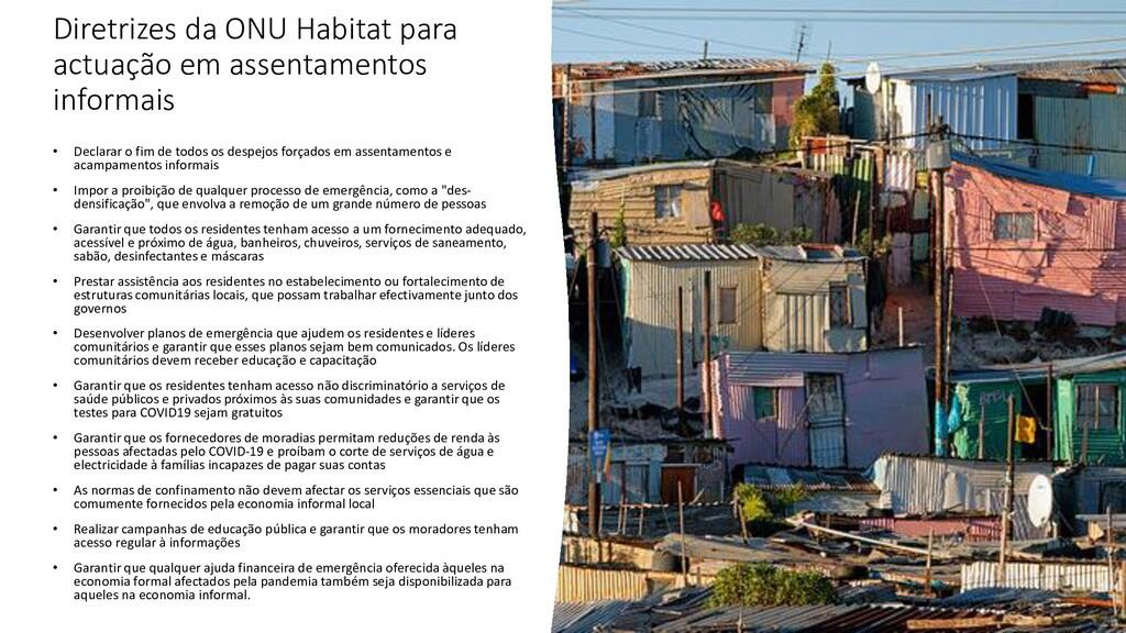 Diretrizes da ONU Habitat para actuação em asse...