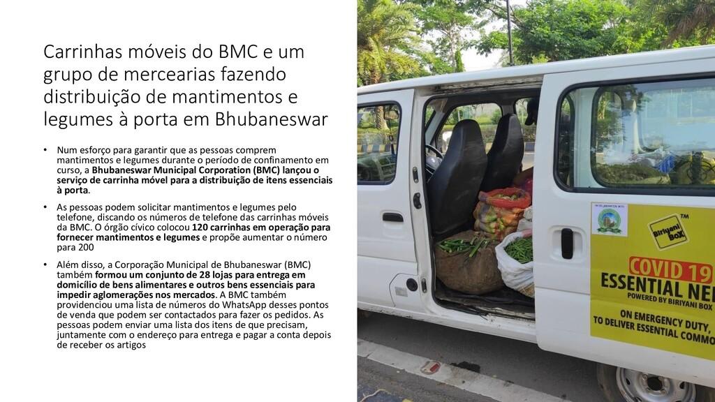 Carrinhas móveis do BMC e um grupo de mercearia...