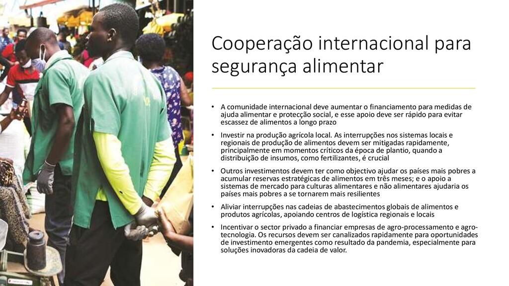 Cooperação internacional para segurança aliment...