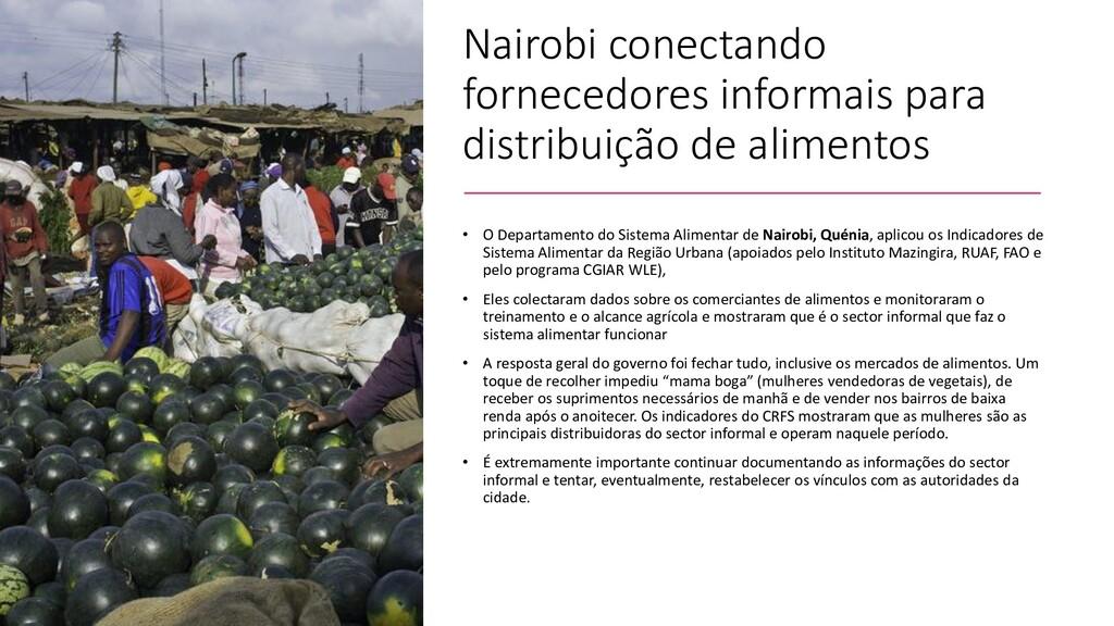 Nairobi conectando fornecedores informais para ...