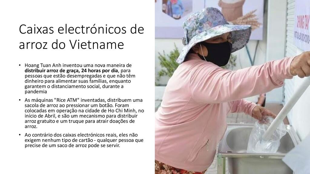 Caixas electrónicos de arroz do Vietname • Hoan...