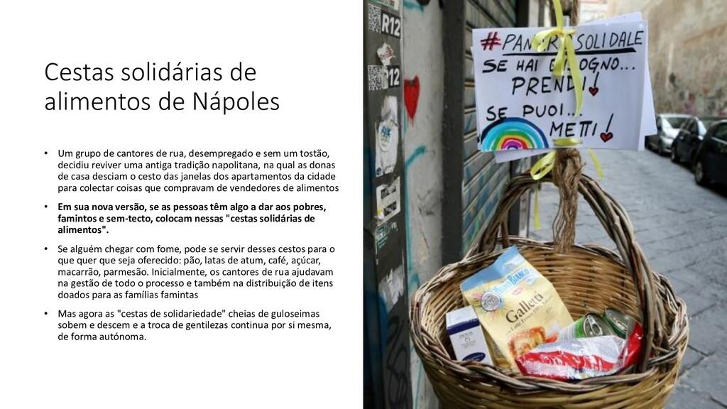 Cestas solidárias de alimentos de Nápoles • Um ...