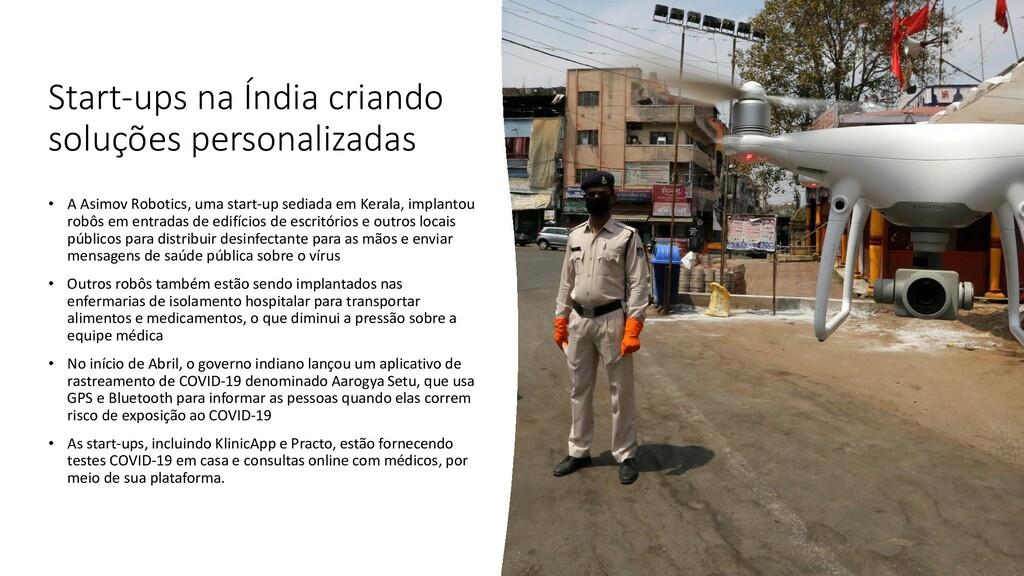 Start-ups na Índia criando soluções personaliza...