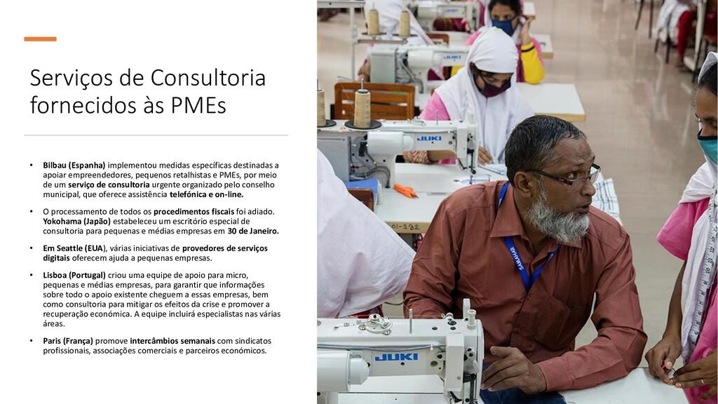 Serviços de Consultoria fornecidos às PMEs • Bi...