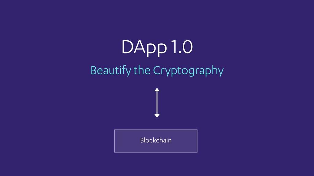 Beautify the Cryptography DApp 1.0 Blockchain