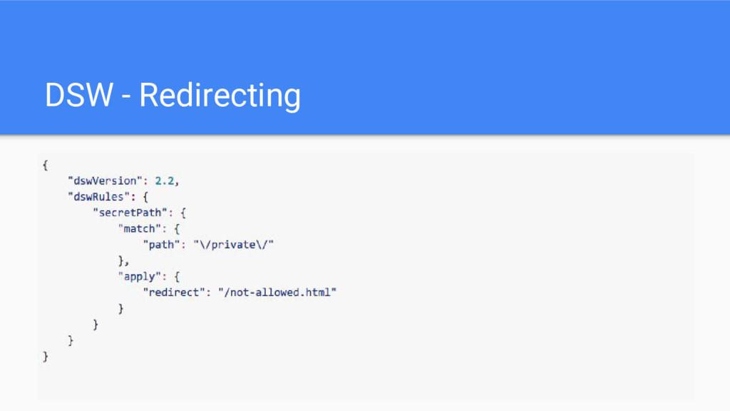 DSW - Redirecting