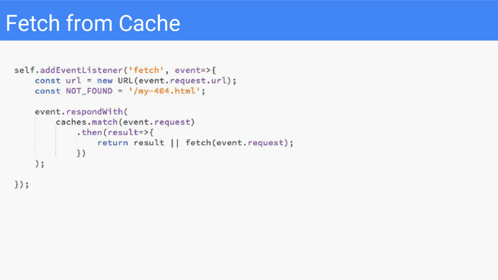 Fetch from Cache