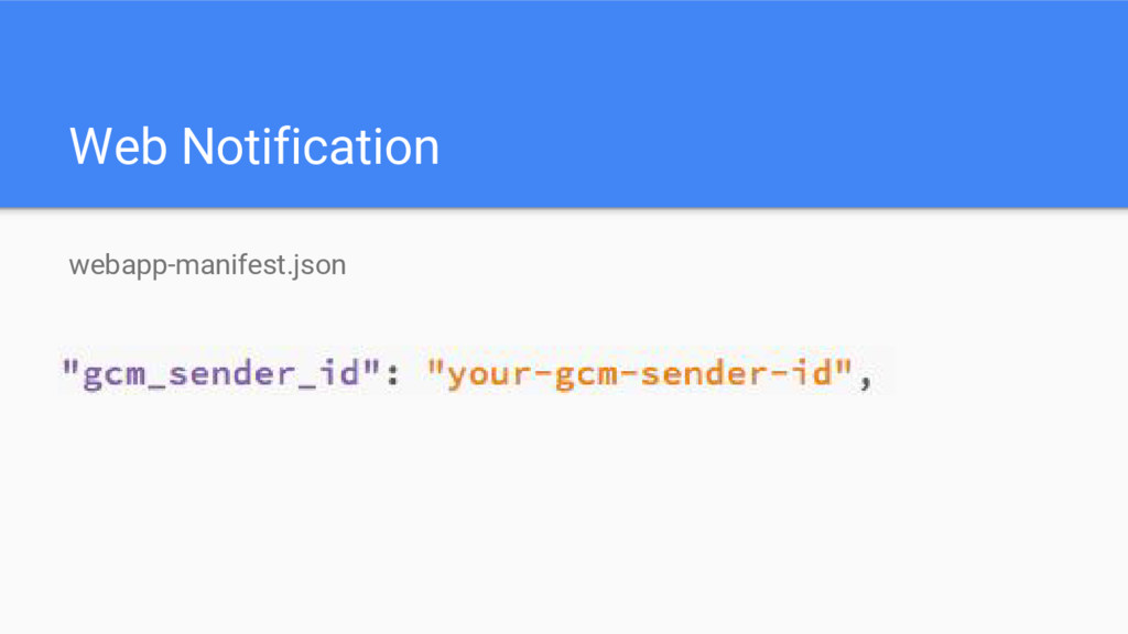 Web Notification webapp-manifest.json