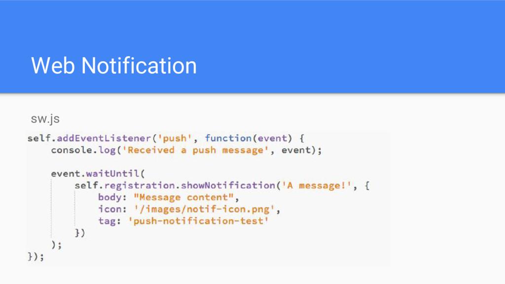 Web Notification sw.js