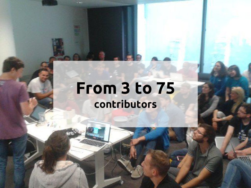 From 3 to 75 contributors