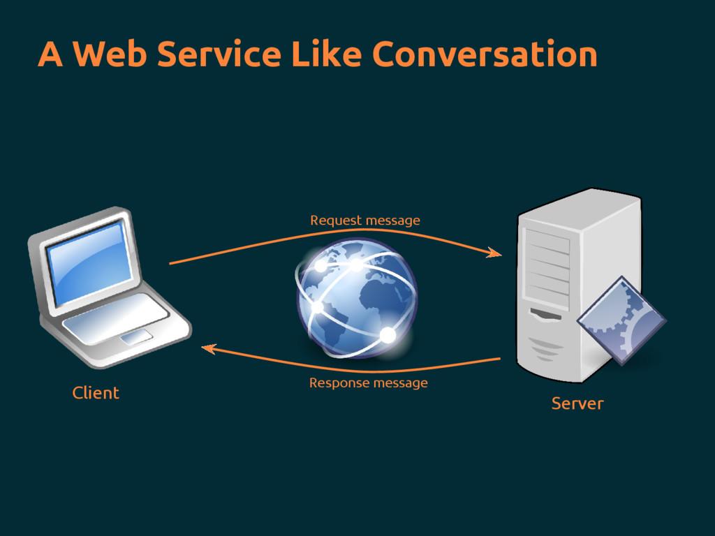 A Web Service Like Conversation Request message...