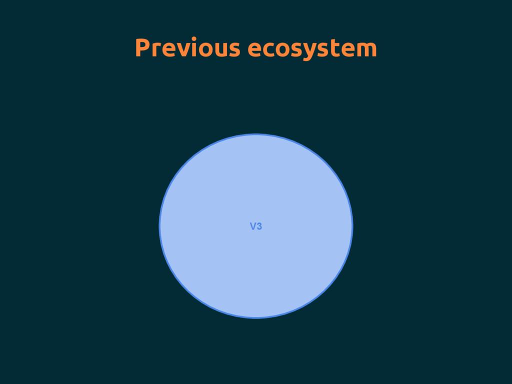 V3 Previous ecosystem