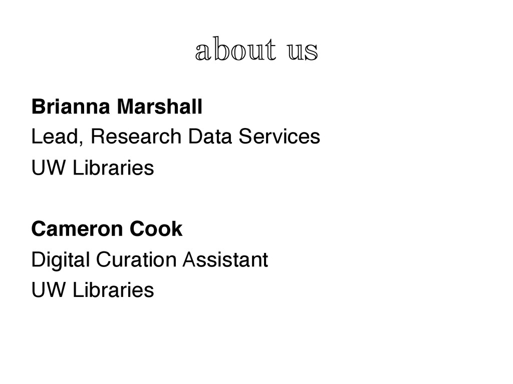 about us Brianna Marshall! Lead, Research Data ...