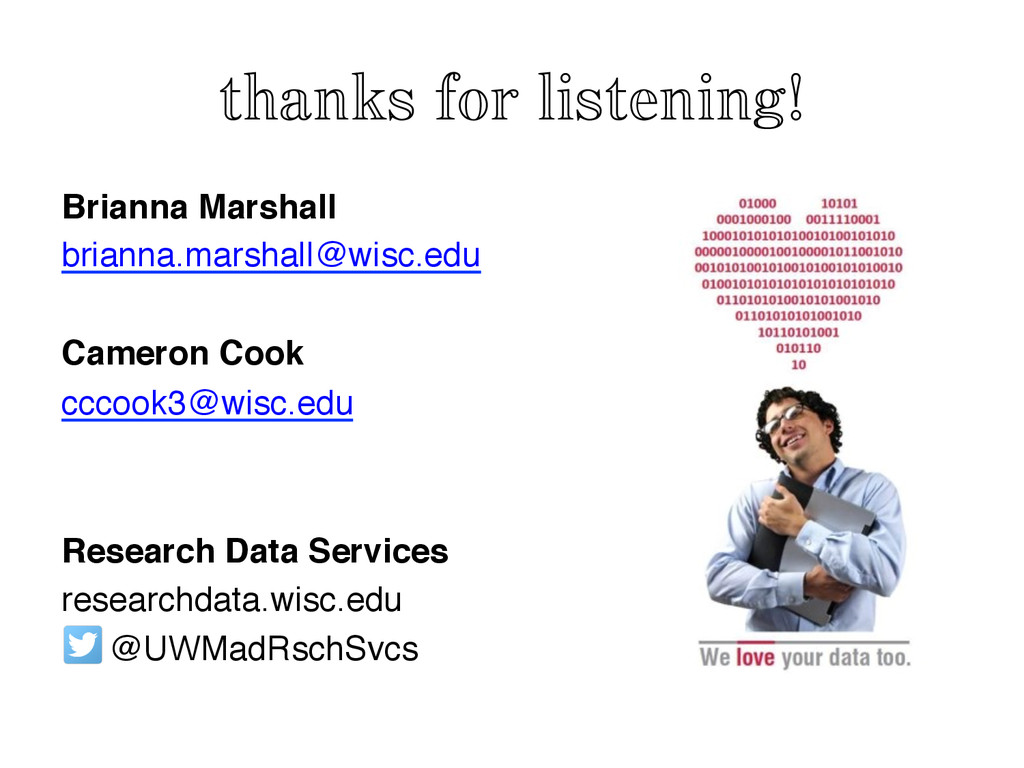 thanks for listening! Brianna Marshall! brianna...