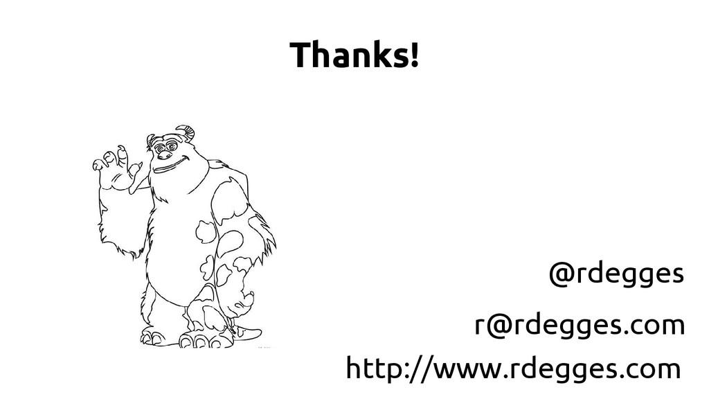 Thanks! @rdegges http://www.rdegges.com r@rdegg...